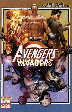 Avengers Invaders #6 Coipel Retail Variant 1:25 (2008) Alex Ross Marvel comic book